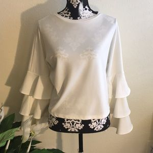 Tops - Bell Sleeve White Blouse